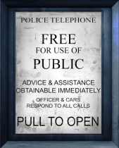 Call Box Text Pull to Open Tardis