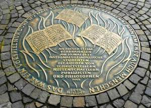 At this place, on May 10, 1933 Nazi, students burned the books of writers, scholars, journalists, and philosophers.