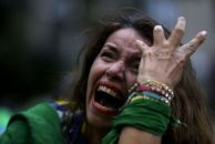 Crying Brazil Supporter