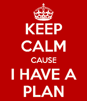 Keep Calm I Have A Plan