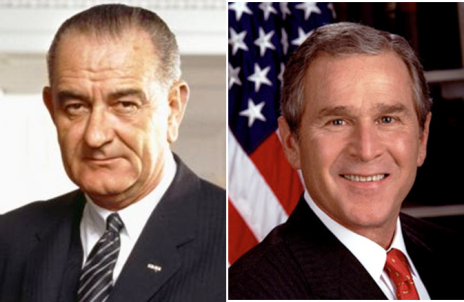 Lyndon B Johnson George W Bush