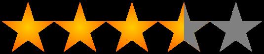 3 and 1 half stars