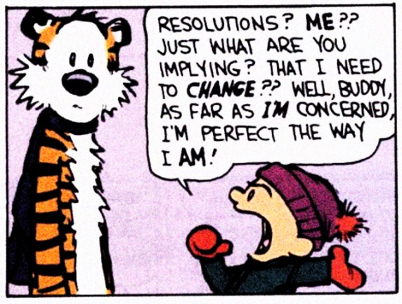 calvin and hobbes new years resolutions