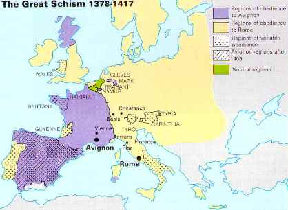 Great Schism Map