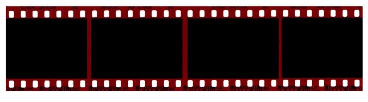 negative film roll red
