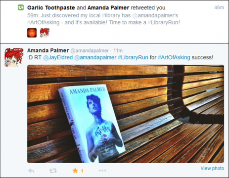 Amanda Palmer Retweeted Me