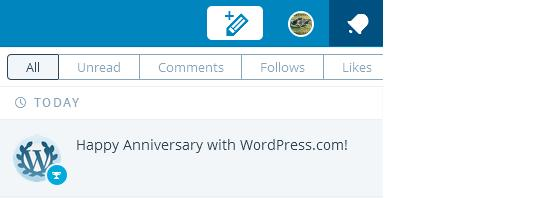 anniversary with wordpress