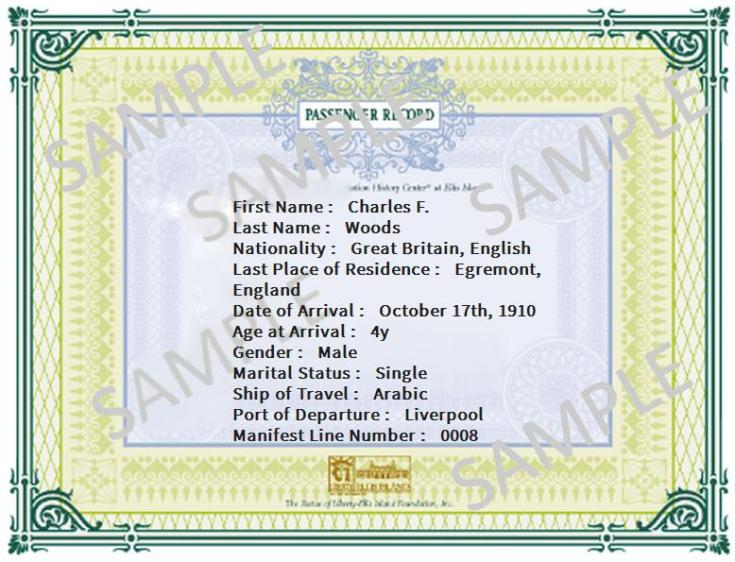 grandpa's passenger record