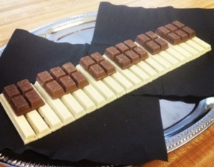Chocolate Piano Keyboard