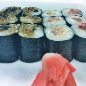 Eel and Yellowfin Sushi