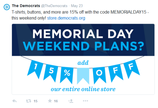 TheDemocrats Memorial Day Sale