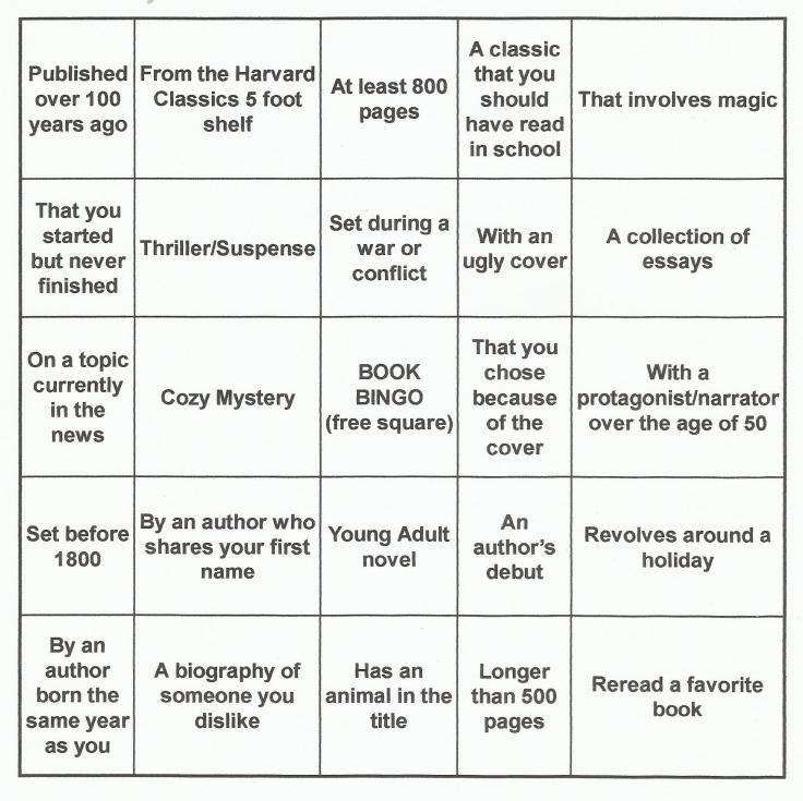 Book Bingo Card 1