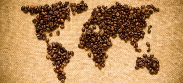coffe beans world map