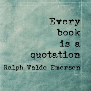 Emerson Book Quotation Quote