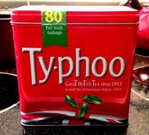Red Ty phoo Tea Tin