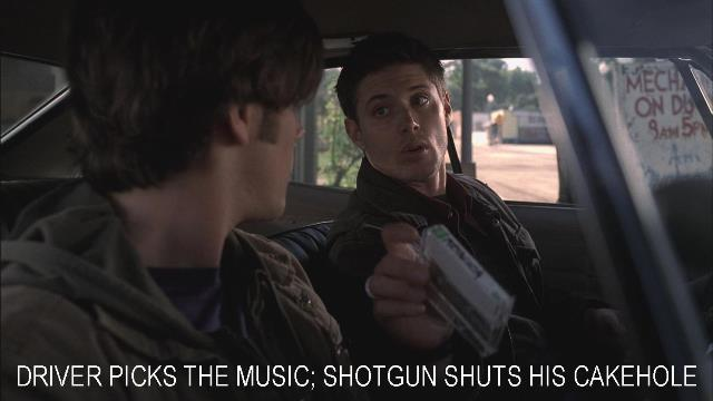 Supernatural Impala Music Quote