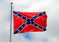 waving confederate battle flag