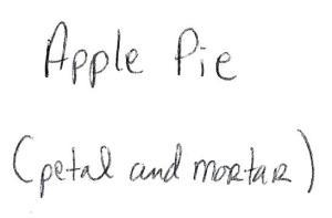 Apple Pie Prompt Card