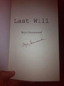 Autographed Copy of Last Will