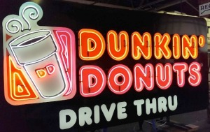dunkin donuts electric sign