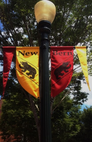 New Bern Red and Gold Flags