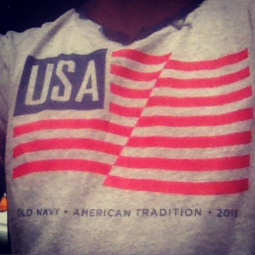 Old Navy 15 Flag Tee