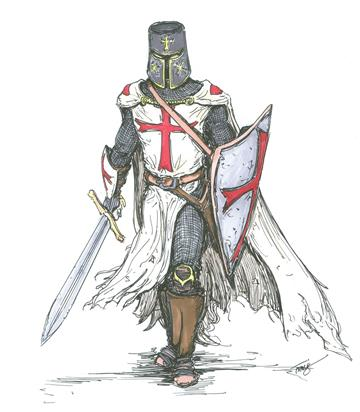 Templar Knight in Battle Dress angelfire7508