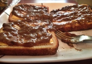 Venison Gravy Cheesy Toast