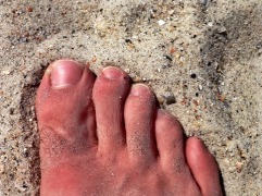 Atlantic Beach Sand and Foot