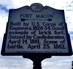 Fort Macon Historical Marker
