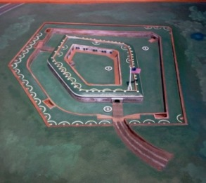 Fort Macon topography diorama
