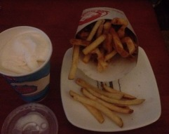Fries and Vanilla Frosty