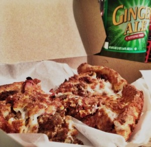 Pizza and Ginger Ale August 7 2015