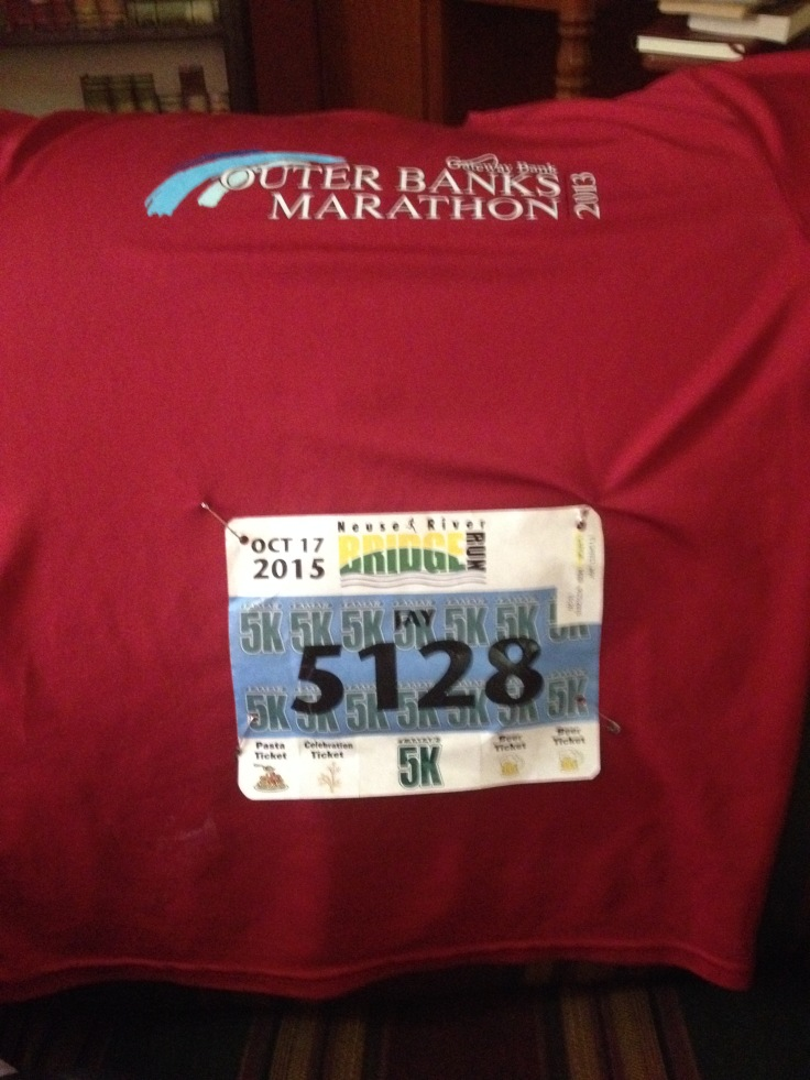 Bridge Run 2015 5k bib