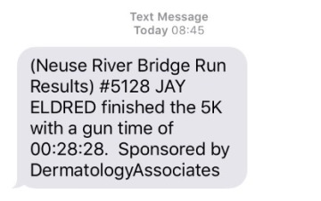 Bridge Run 5k Results