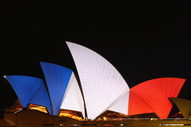 Sydney Opera House French Flag
