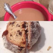 Kaffee und Stollen