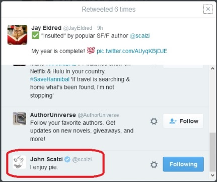 The Scalzi Retweet