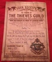 Thieves Guild Receipt 2