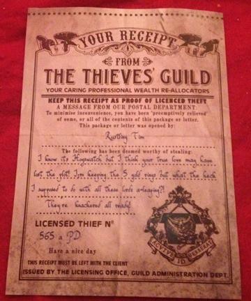 Thieves Guild Receipt 2