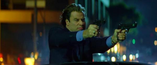 John Travolta Dual Wielding Pistols Swordfish still