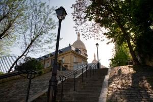 Stairs climbing Montmartre, Paris