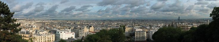 Paris Skyline from the Sacred Heart