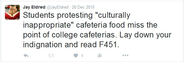 Tweet cafeteria and f451