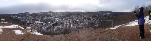 Honesdale from Irving Cliff