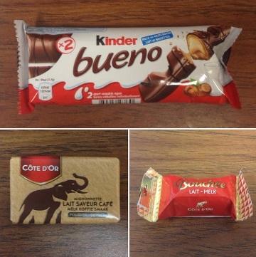 Three Belgian Chocolates
