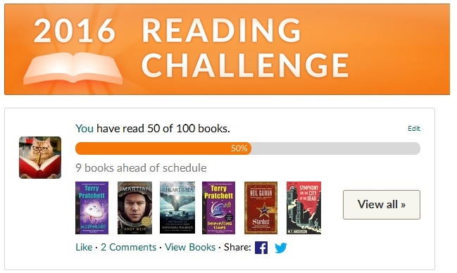 Halfway Mark Reading Challenge 2016