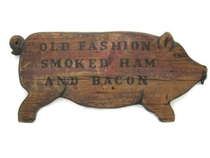 Antique Pig Sign
