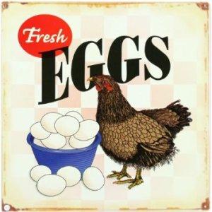 Fresh Chicken Eggs Sign