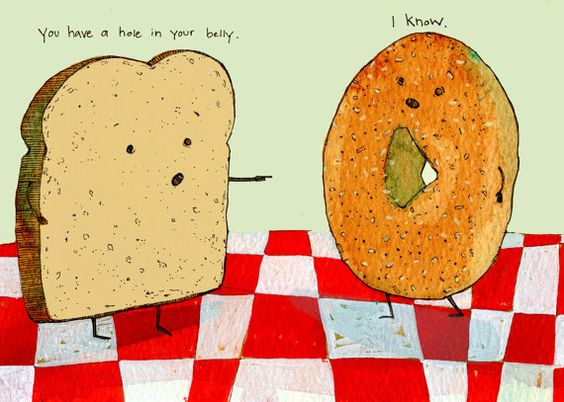 bagel toast cartoon